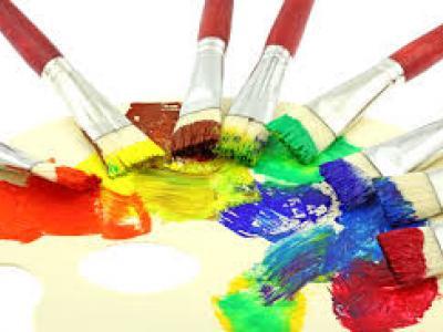 Краски, кисти, бумагу